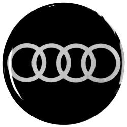 Emblematy na kołpaki i felgi do AUDI, silikonowe 3D (zamienniki)