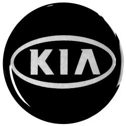 Emblematy na kołpaki i felgi do KIA, silikonowe 3D (zamienniki)