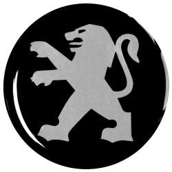 Emblematy na kołpaki i felgi do PEUGEOT, silikonowe 3D (zamienniki)