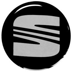 Emblematy na kołpaki i felgi do SEAT, silikonowe 3D (zamienniki)