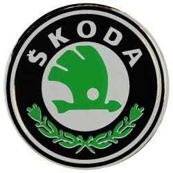 Emblematy na kołpaki i felgi do SKODA, silikonowe 3D (zamienniki)