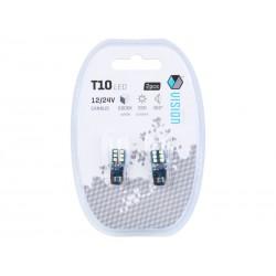 Żarówki LED VISION W5W T10 12V 12x 2016 SMD CANBUS