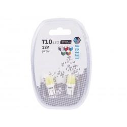 Żarówki LED VISION W5W (T10) 12V 1x COB 2 szt.