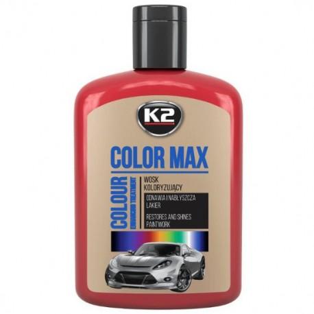 Wosk koloryzujący K2 COLOR MAX 200 ML CZERWONY